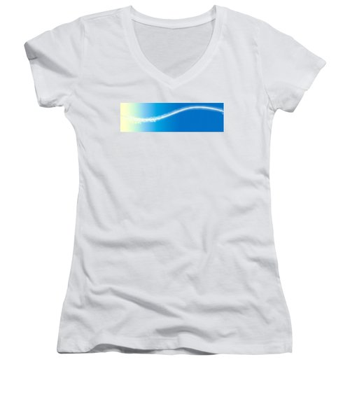 Abstract Women's V-Neck