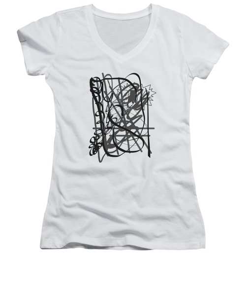 Abstract Women's V-Neck T-Shirt (Junior Cut)
