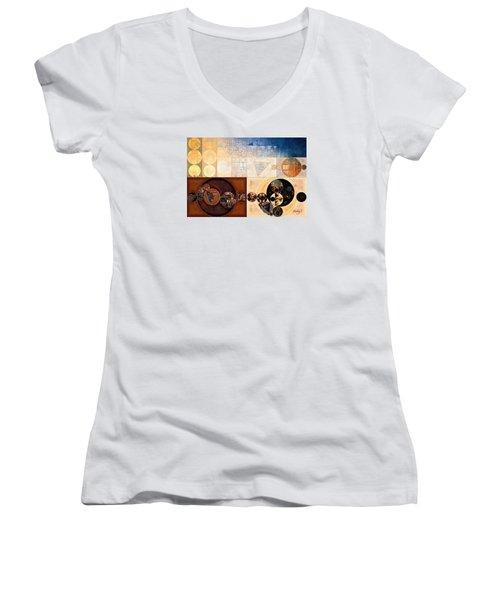 Abstract Painting - Dairy Cream Women's V-Neck T-Shirt (Junior Cut) by Vitaliy Gladkiy