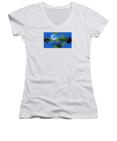 Abstract Painting - Everglade Women's V-Neck T-Shirt (Junior Cut) by Vitaliy Gladkiy