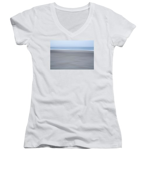 Abstract Seascape No. 10 Women's V-Neck T-Shirt