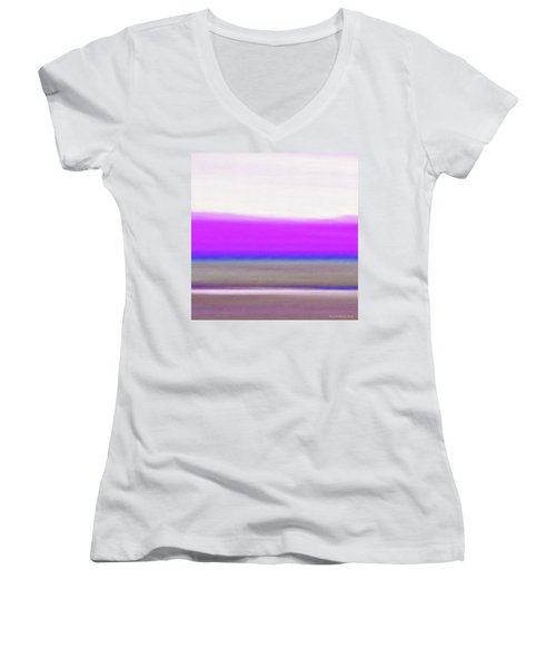 Abstract Sunset 65 Women's V-Neck (Athletic Fit)