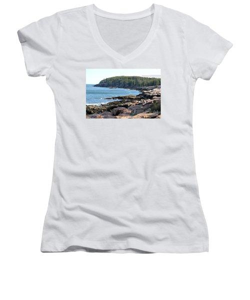 Acadia Cove Women's V-Neck T-Shirt
