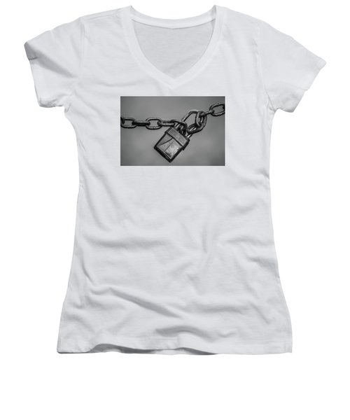 Access Denied Women's V-Neck T-Shirt (Junior Cut)