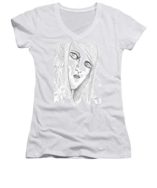 Adal Women's V-Neck T-Shirt (Junior Cut) by Dan Twyman