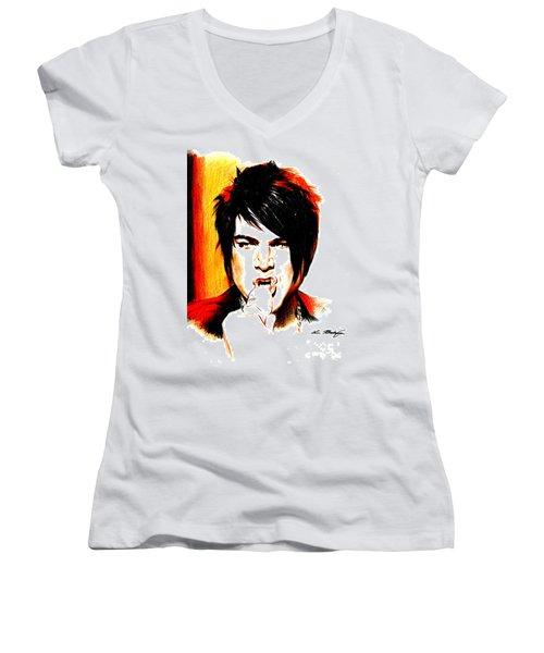 Adam Lambert Women's V-Neck T-Shirt