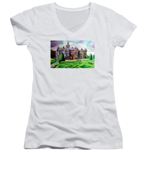 Adare Manor Co Limerck Ireland Women's V-Neck T-Shirt