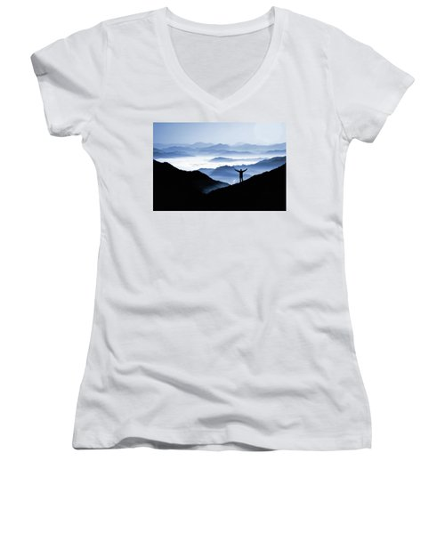 Adoration Of Natural Beauty Women's V-Neck