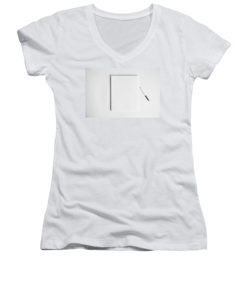 To Be Filled In Anyway You Like It Women's V-Neck T-Shirt (Junior Cut) by Yvette Van Teeffelen