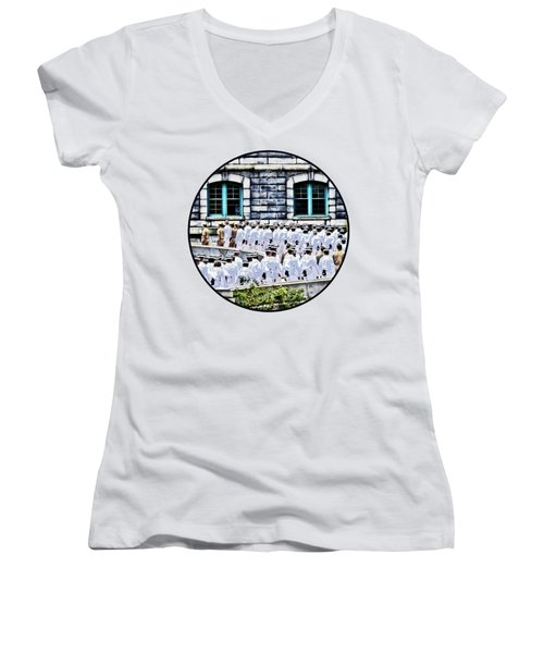 After The Noon Meal Formation Women's V-Neck