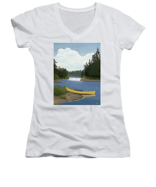 After The Rapids Women's V-Neck (Athletic Fit)