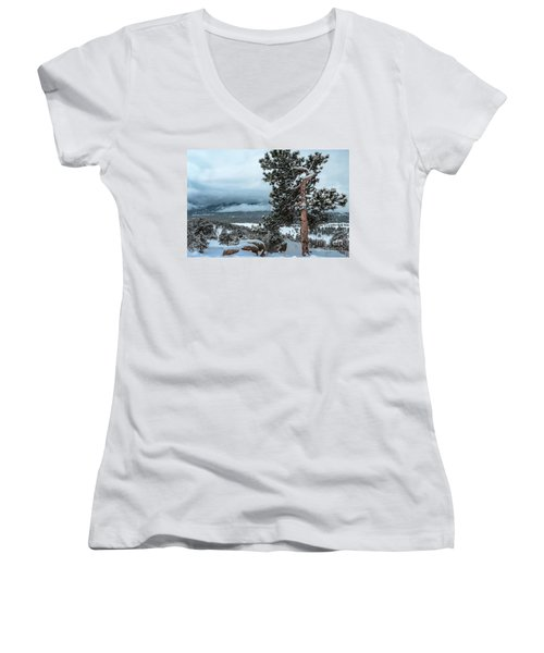 After The Snow - 0629 Women's V-Neck T-Shirt