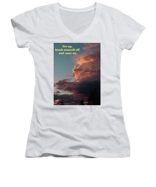 After The Storm Carry On Women's V-Neck T-Shirt (Junior Cut) by DeeLon Merritt