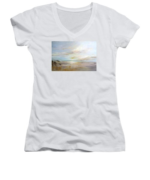 After The Storm Women's V-Neck T-Shirt (Junior Cut) by Dina Dargo