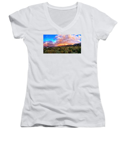 After The Storm Panorama Women's V-Neck