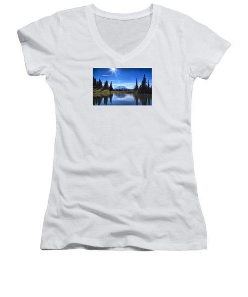 Afternoon Delight 2 Women's V-Neck T-Shirt (Junior Cut) by Lynn Hopwood