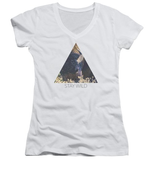 Afternoon Grazing Women's V-Neck (Athletic Fit)