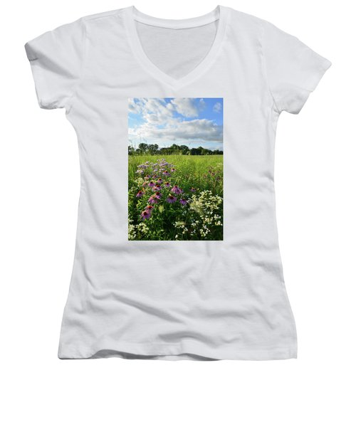 Afternoon In Moraine Hills State Park Women's V-Neck (Athletic Fit)