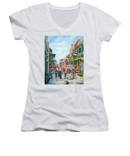 Afternoon On St. Ann Women's V-Neck (Athletic Fit)