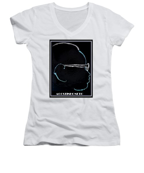 Agostinho Neto Women's V-Neck T-Shirt (Junior Cut)