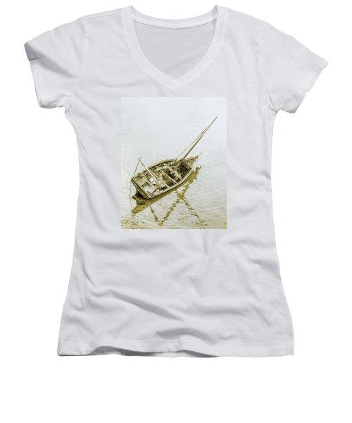 Aground Women's V-Neck T-Shirt