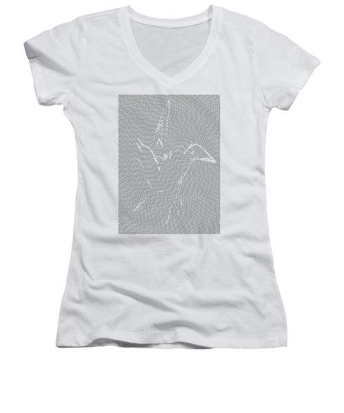 Women's V-Neck featuring the digital art Aibird by Robert Thalmeier