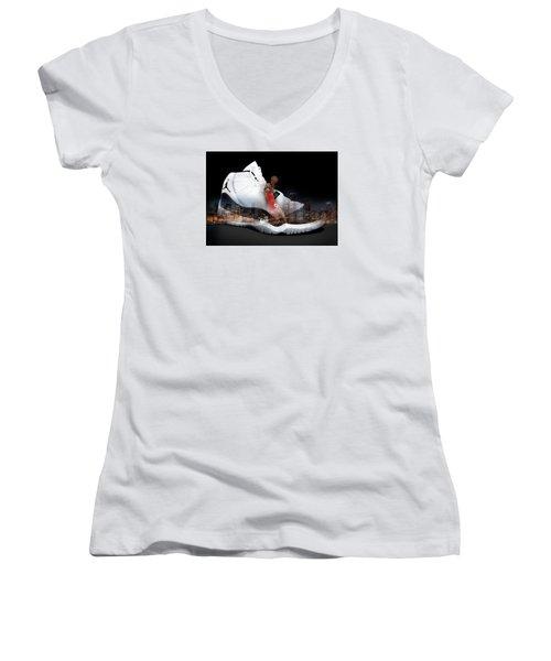 Air Jordan Chicago Women's V-Neck T-Shirt