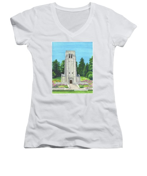Aisne-marne American Cemetery Women's V-Neck (Athletic Fit)