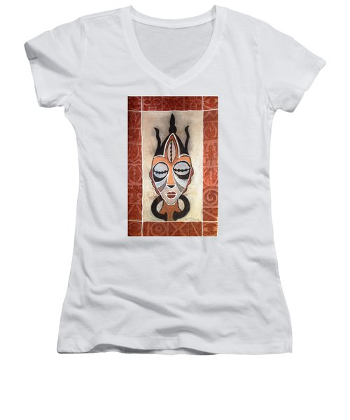 Aje Mask Women's V-Neck T-Shirt