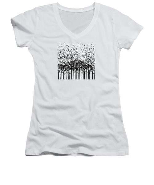 Aki Monochrome Women's V-Neck T-Shirt (Junior Cut) by Cynthia Decker
