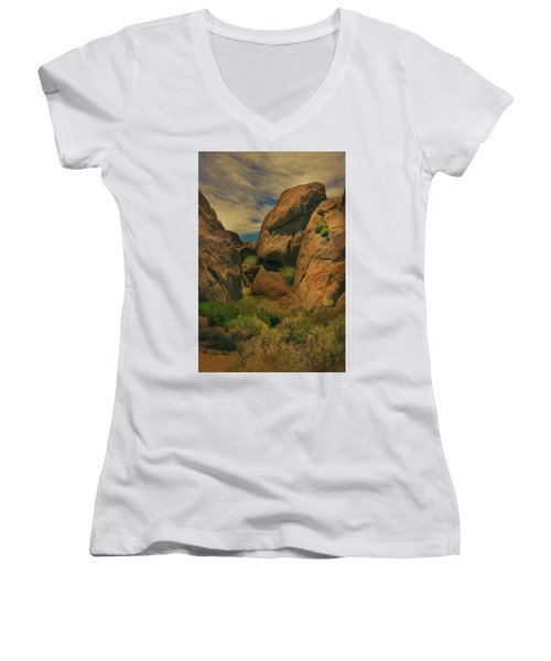 Alabama Hills - Eastern Sierras - Two Women's V-Neck (Athletic Fit)