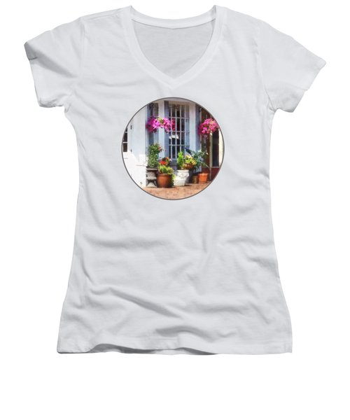 Alexandria Va - Corner Of King Street And S Alfred Women's V-Neck T-Shirt