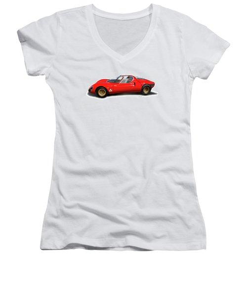 Alfa Romeo 33 Stradale 1967 Women's V-Neck T-Shirt