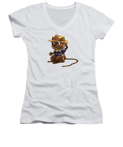 Deputy Alfred Women's V-Neck T-Shirt (Junior Cut) by Reynold Jay