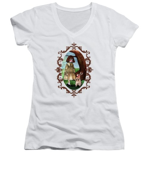 Alice Pleasance Liddel Women's V-Neck T-Shirt