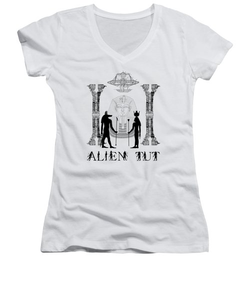 Alien King Tut Women's V-Neck (Athletic Fit)