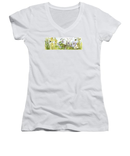 Alive In A Spring Garden Women's V-Neck