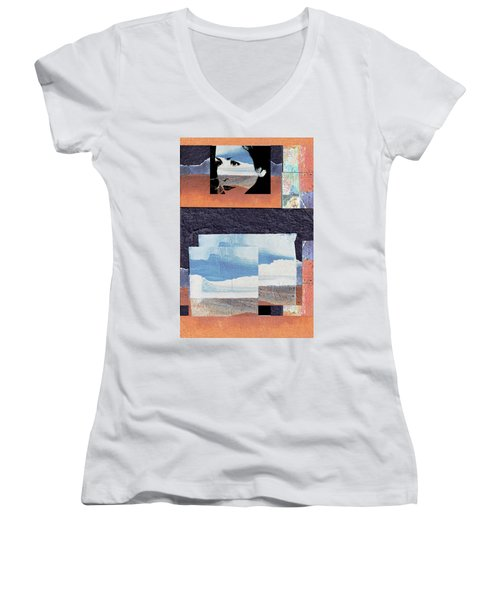 Women's V-Neck T-Shirt (Junior Cut) featuring the photograph All That We See Or Seem Is But A Dream Within A Dream, Even She by Danica Radman