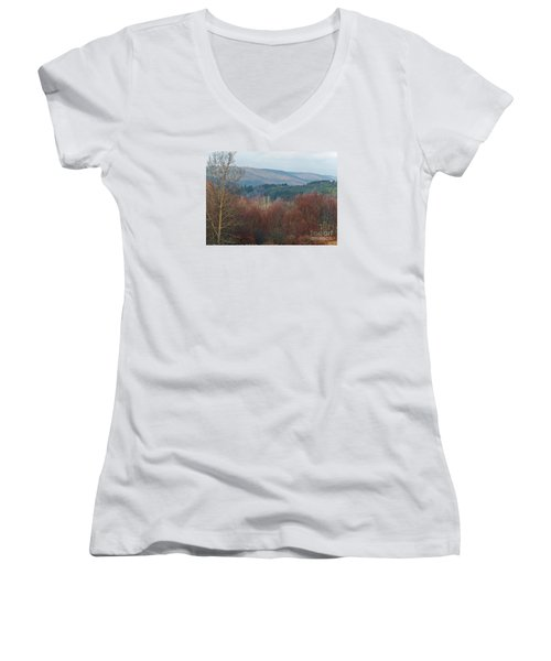 Women's V-Neck T-Shirt (Junior Cut) featuring the photograph Allegany Rhapsody by Christian Mattison