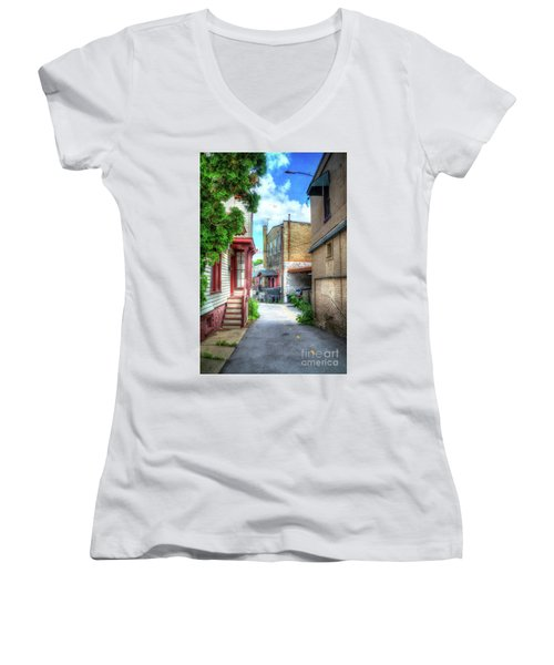 Alleyway Women's V-Neck T-Shirt