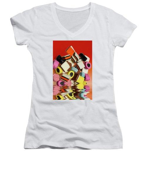 Allsorts Sweets Women's V-Neck T-Shirt (Junior Cut)