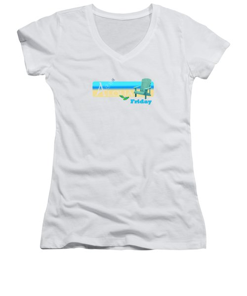 Aloha Friday Women's V-Neck T-Shirt