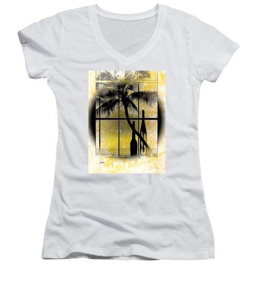 Aloha,from The Island Women's V-Neck T-Shirt