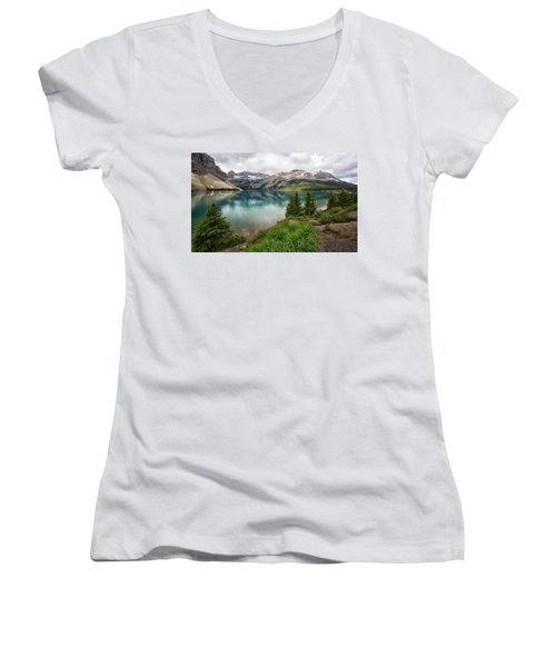 Along Icefields Parkway Women's V-Neck (Athletic Fit)