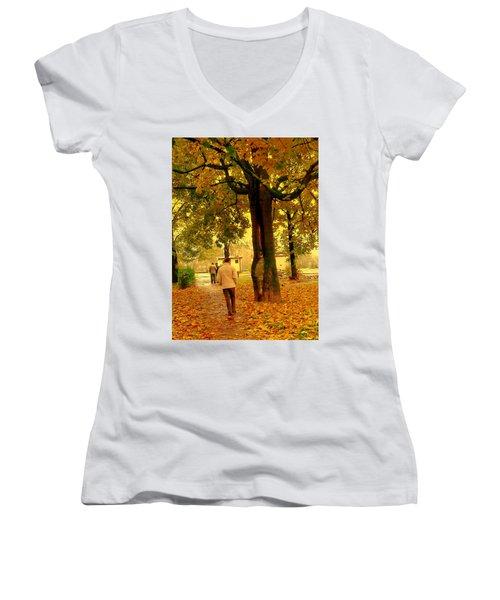 Already Autumn Women's V-Neck T-Shirt