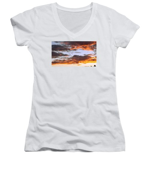 Glorious Clouds At Sunset Women's V-Neck
