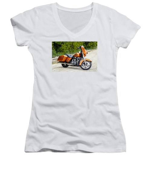 Amber Whiskey Street Glide Women's V-Neck (Athletic Fit)