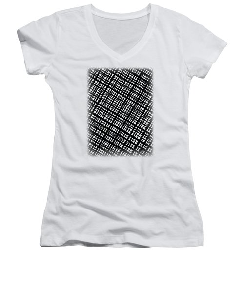 Women's V-Neck T-Shirt (Junior Cut) featuring the digital art Ambient 35 by Bruce Stanfield