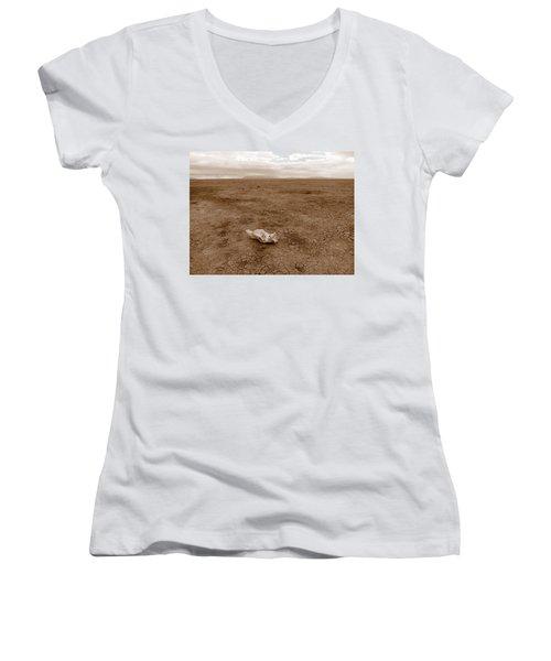 Amboseli Lake Women's V-Neck T-Shirt