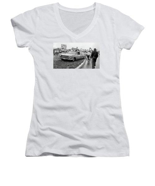 Ambulance Accident Women's V-Neck T-Shirt